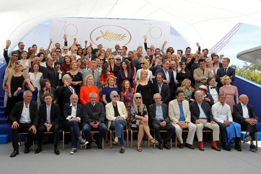 La photo anniversaire du 70e Festival de Cannes