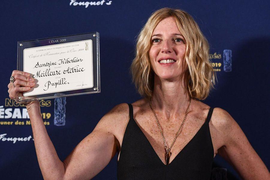 Sandrine Kiberlain au déjeuner des Nommés aux César, dimanche, à Paris