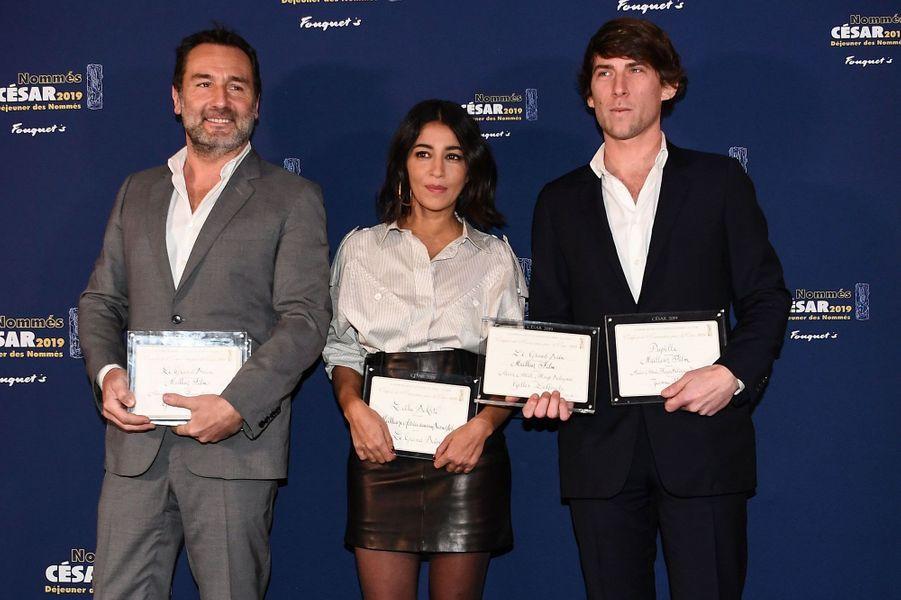 Gilles Lellouche, Leila Bekhti et le producteur Hugo Selignac