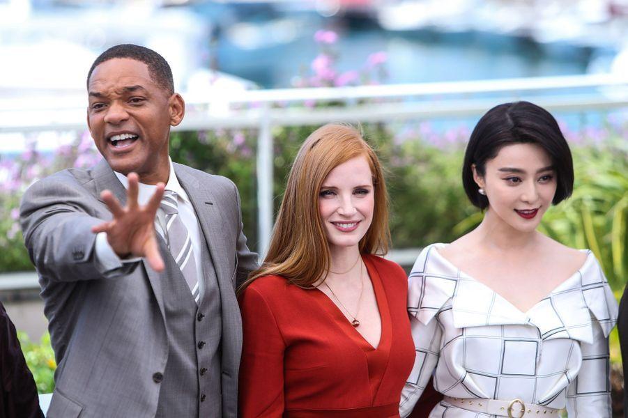 Will Smith, Jessica Chastain et Fan Bing Bing