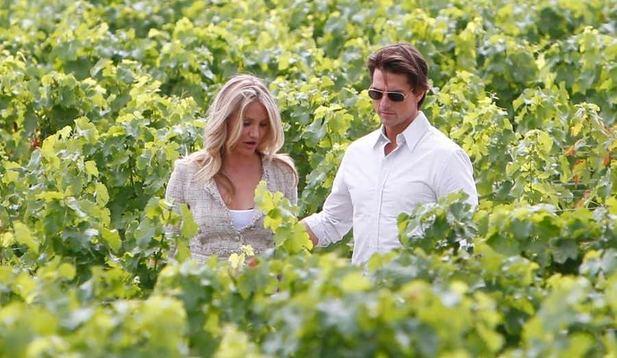 Cameron Diaz et Tom Cruise, en pleine promotion du film Night and Day qui sortira mercredi prochain en France, sont à Bordeaux, afin d'assister à l'étape du Tour de France.