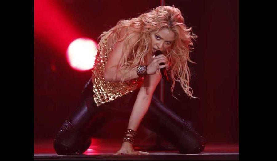 Shakira était en concert au stade Palau Sant Jordi de Barcelone hier soir.