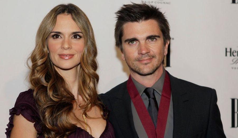 Juanes et sa femme Karen Martinez aux Latin grammy awards à Las Vegas.