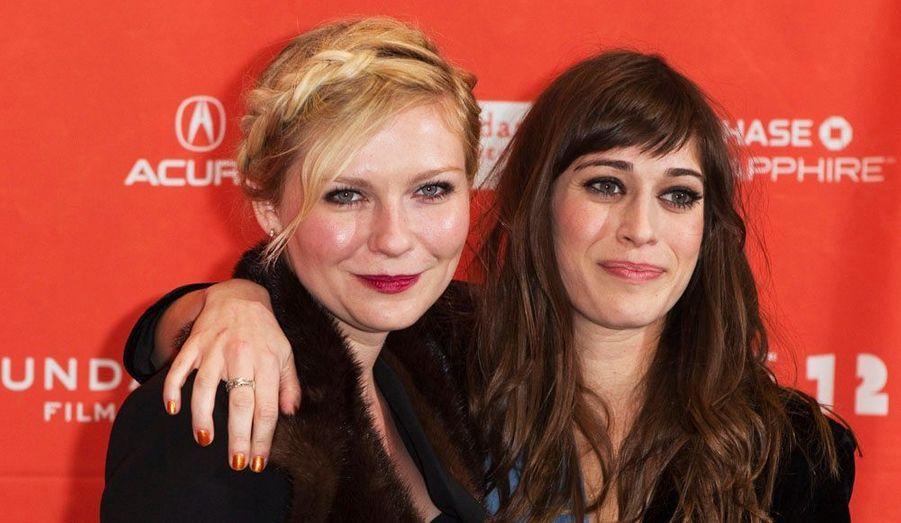 """Prix d'interprétation féminine du dernier Festival de Cannes pour """"Melancholia"""", Kirsten Dunst présentait à Sundance """"Bachelorette"""" en compagnie de Lizzy Caplan."""