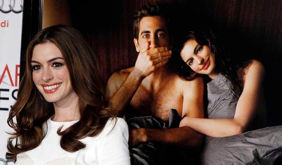 Anne Hathaway à la première de son dernier film, Love, et autres drogues, avec Jake Gyllenhaal, à l'AFI Fest, à Hollywwod.