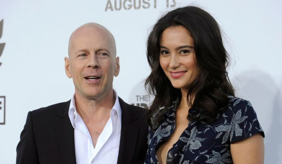 """Bruce Willis et sa femme Emma Heming étaient présents à la première à Los angeles de """"The Expendables."""""""