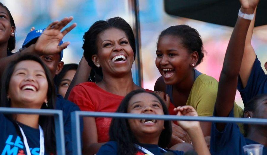 """Michelle Obama a assisté au quart de finale mettant aux prises Andy Roddick et Rafael Nadal, vendredi à l'US Open. La Première dame des Etats-Unis honorait là un rendez-vous de l'association """"Let's Move"""" qui promeut la pratique sportive."""
