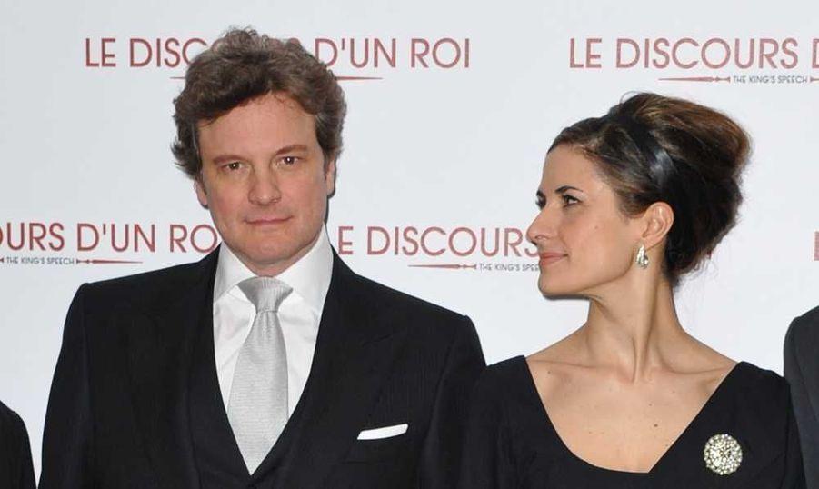 Hier soir avait lieu la première du Discours d'un roi, de Tom Hooper, avec Colin Firth, Geoffrey Rush, et Helena Bonham Carter, qui sortira le 2 Février 2011. L'acteur principal est venu accompagné de sa charmante épouse, Livia Giuggioli.