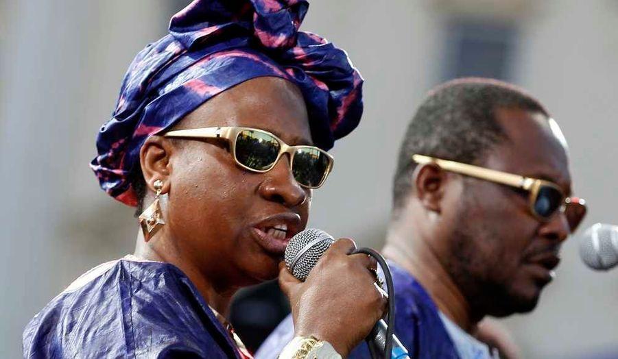 Amadou et Mariam se sont produits jeudi dans le cadre de la 19ème édition du Nice Jazz Festival, qui a débuté dimanche soir sous le parrainage de la chanteuse Dee Dee Bridgewater.