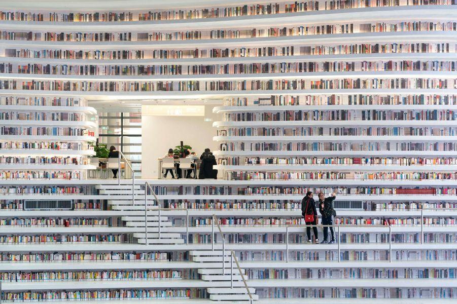 Découvrez en images l'incroyable bibliothèque de Tianjin.