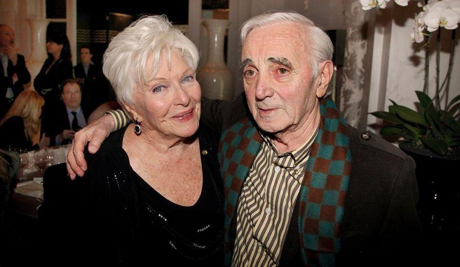 Charles Aznavour et Line Renaud, qui répète « Harold et Maude ».