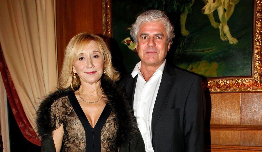 Marie-Anne Chazel et son compagnon Philippe Raffard