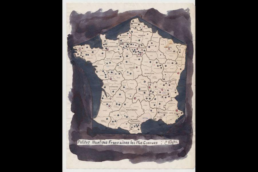 « Petites hantises françaises les plus connues » ; collage réalisé par Émile