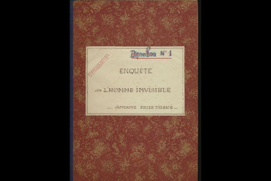 « Brouillon n°1 - Enquête sur l'homme invisible », manuscrit inéditd'Émile Tizané (circa 1931).