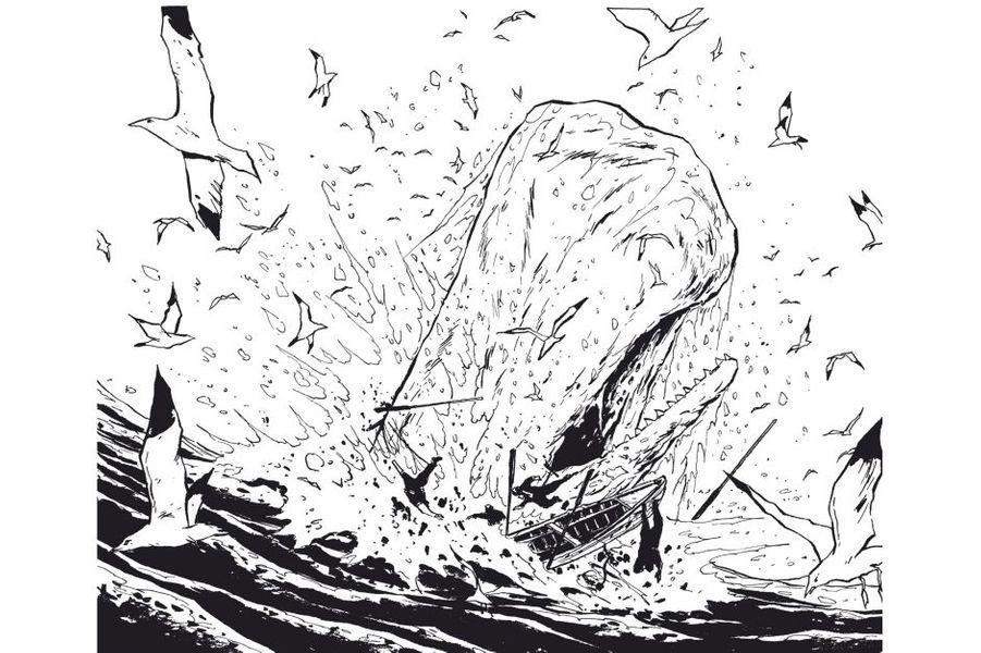 En poursuivant le légendaire «Moby Dick», le dessinateur s'approprie magistralement le classique de Melville. Cela fait maintenant plus de quinze ans que Christophe Chabouté nous tient sous son emprise. Depuis ses débuts, cet Alsacien de 47 ans nous a fait angoisser dans un phare perdu, trembler à la vue d'inquiétantes sorcières, frémir avec l'infâme Landru. Et l'on guette avec impatience chaque album de ce remarquable conteur d'histoires qui ferait passer Henri-Georges Clouzot et Georges Franju pour de joyeux drilles. Après avoir mis en images «Construire un feu», nouvelle de Jack London quasi inadaptable, il vient d'achever son voyage en deux tomes au côté du capitaine Achab, héros au caractère aussi obstiné que le sien.«Moby Dick, livre second», éd. Vent d'Ouest, 18,50 euros.