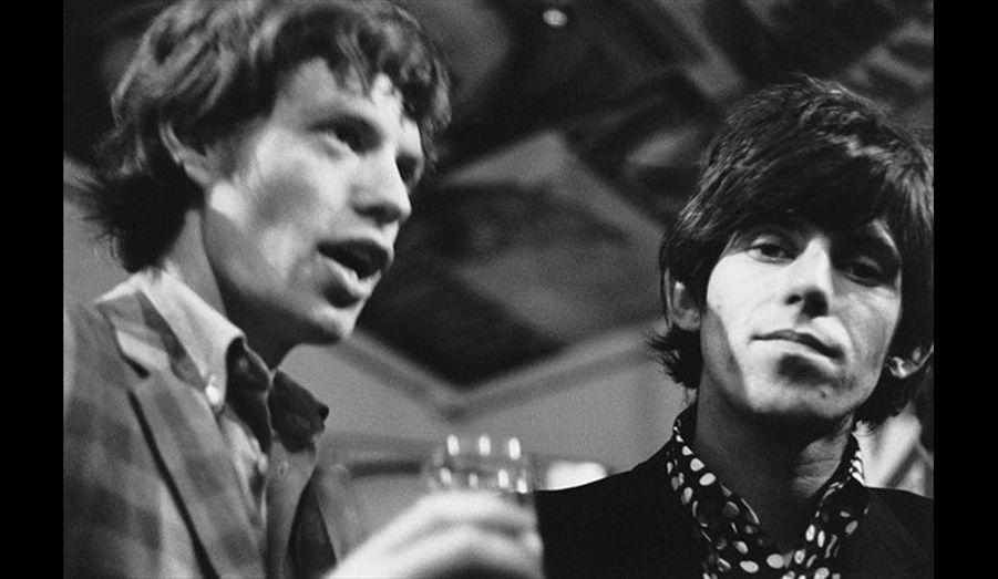 Mick Jagger et Keith Richards, chanteur et guitariste des Rolling Stones.