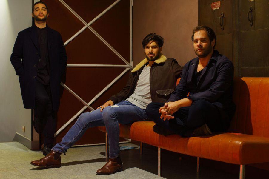 Alexandre Jonette, Maxime Passadore et Julien Verry, les trois auteurs de «Paris Dernière».