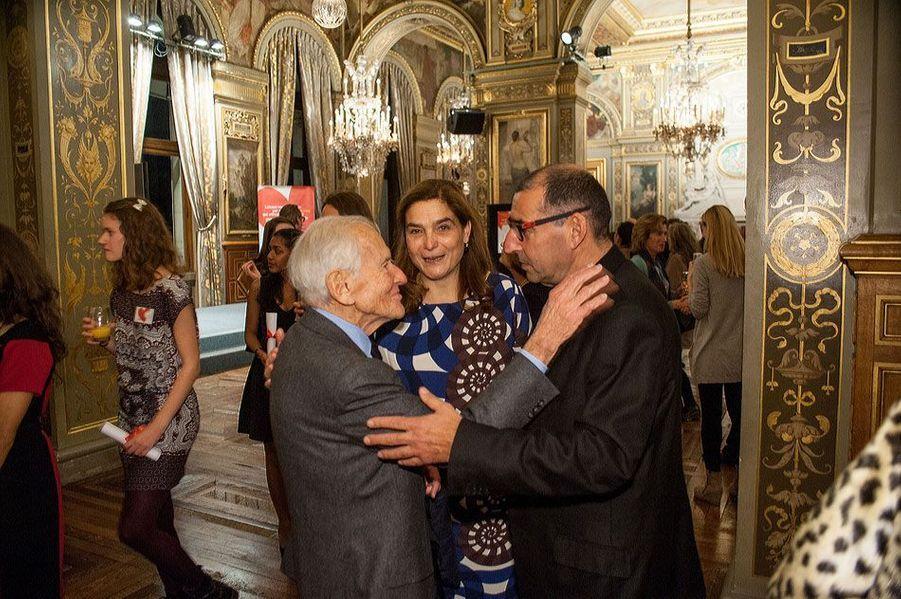 Héloïse d'Ormesson, Jean d'Ormesson et Gilles Cohen-Solal
