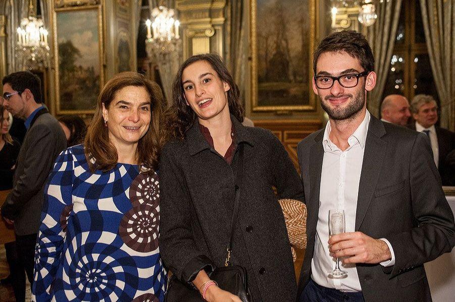 Héloïse d'Ormesson, Nine d'Urso et Paul Lejeune, lauréat de l'édition 2011 du Prix Clara.