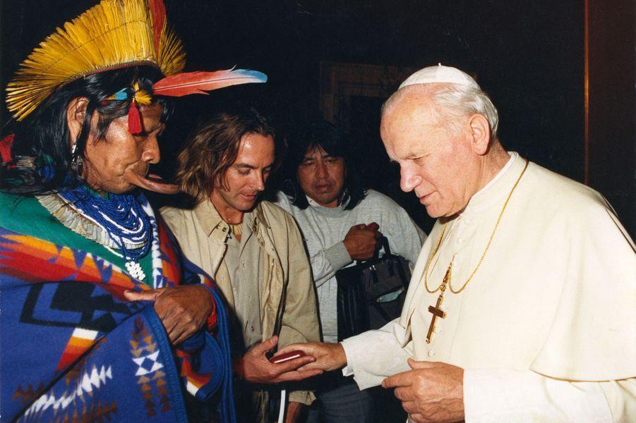 En 1989 à Rome avec le pape