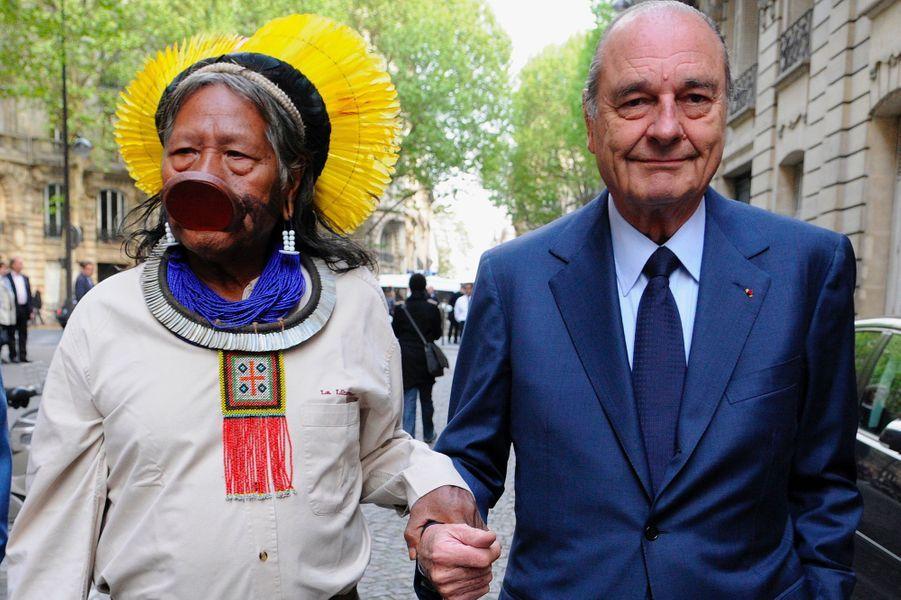 En 2012 avec Jacques Chirac