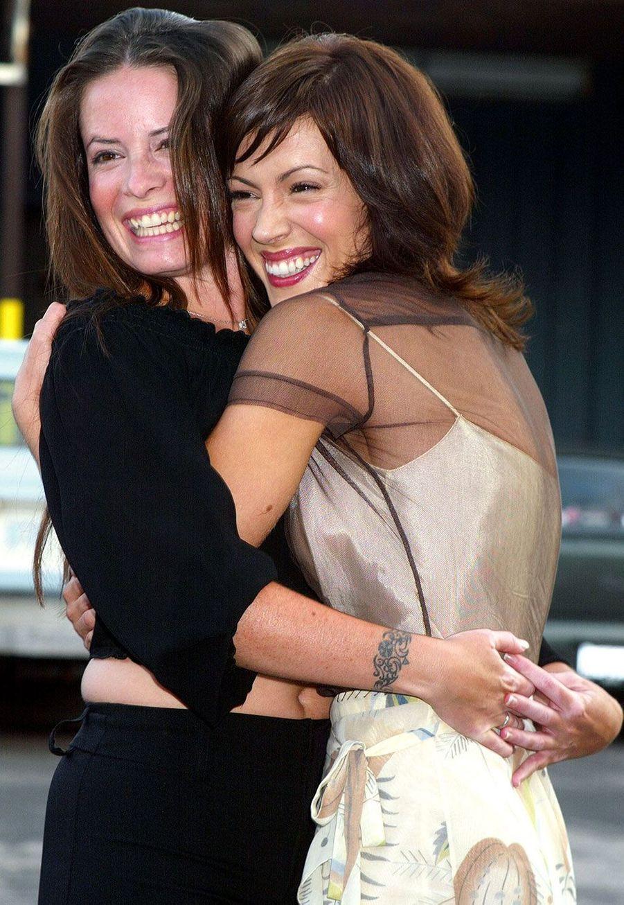 Alyssa Milano avec Holly Marie Combs en 2002