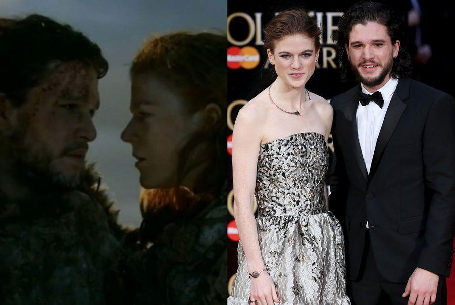 "Kit Harington et Rose Leslie de ""Game of Thrones"""