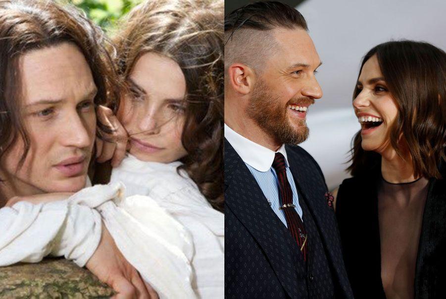 """Tom Hardy et Charlotte Riley dans """"Les Hauts de Hurlevent"""""""