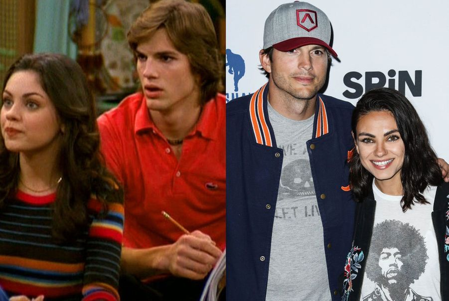 "Ashton Kutcher et Mila Kunis de ""That '70s Show"""