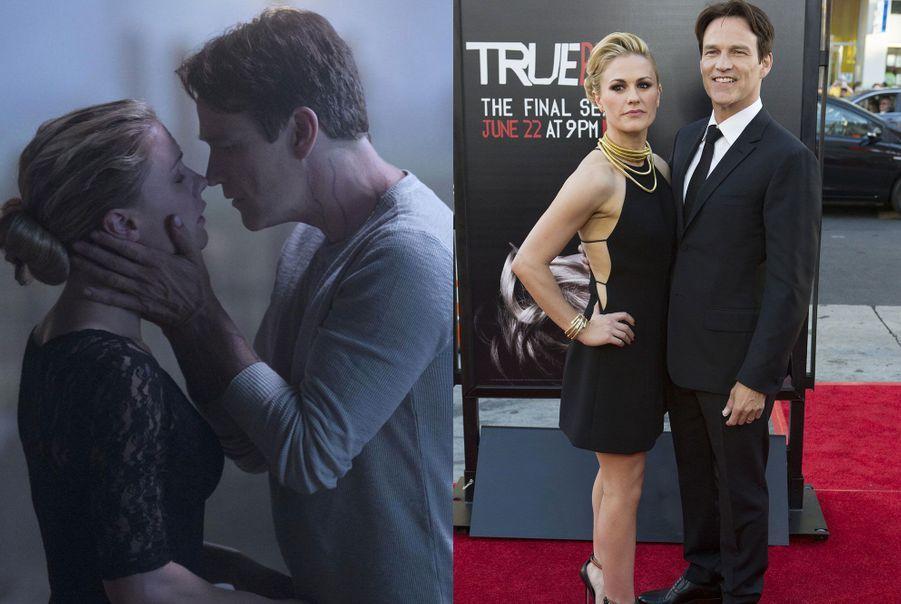 "Anna Paquin et Stephen Moyer de ""True Blood"""