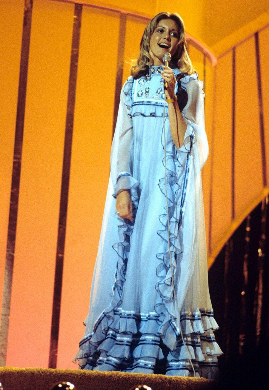 Olivia Newton-John en 1974 pour le Royaume-Uni
