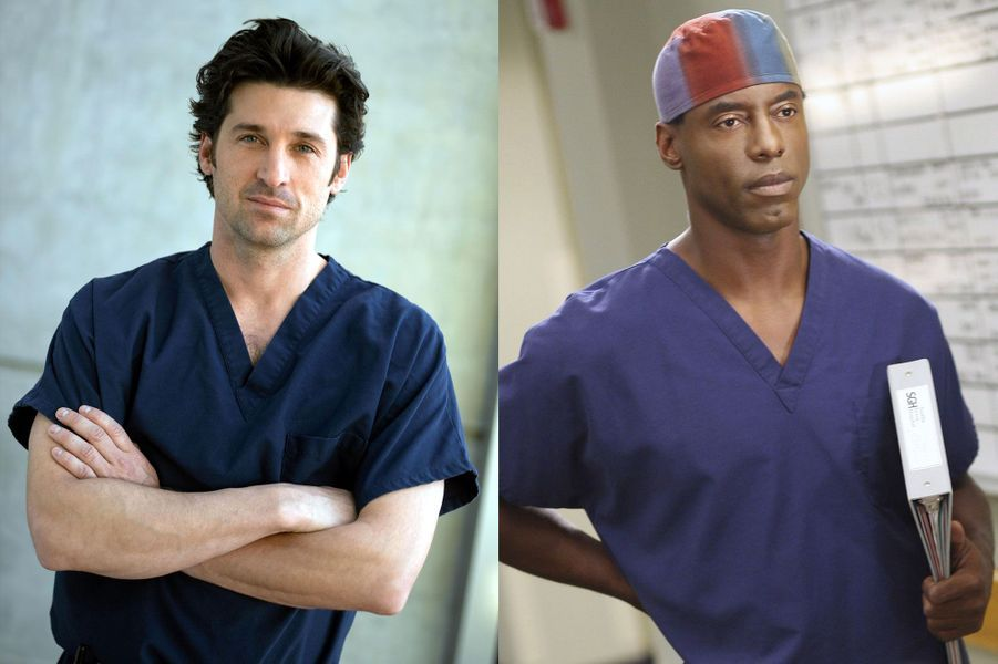 "Patrick Dempsey et Isaiah Washington de ""Grey's Anatomy"""
