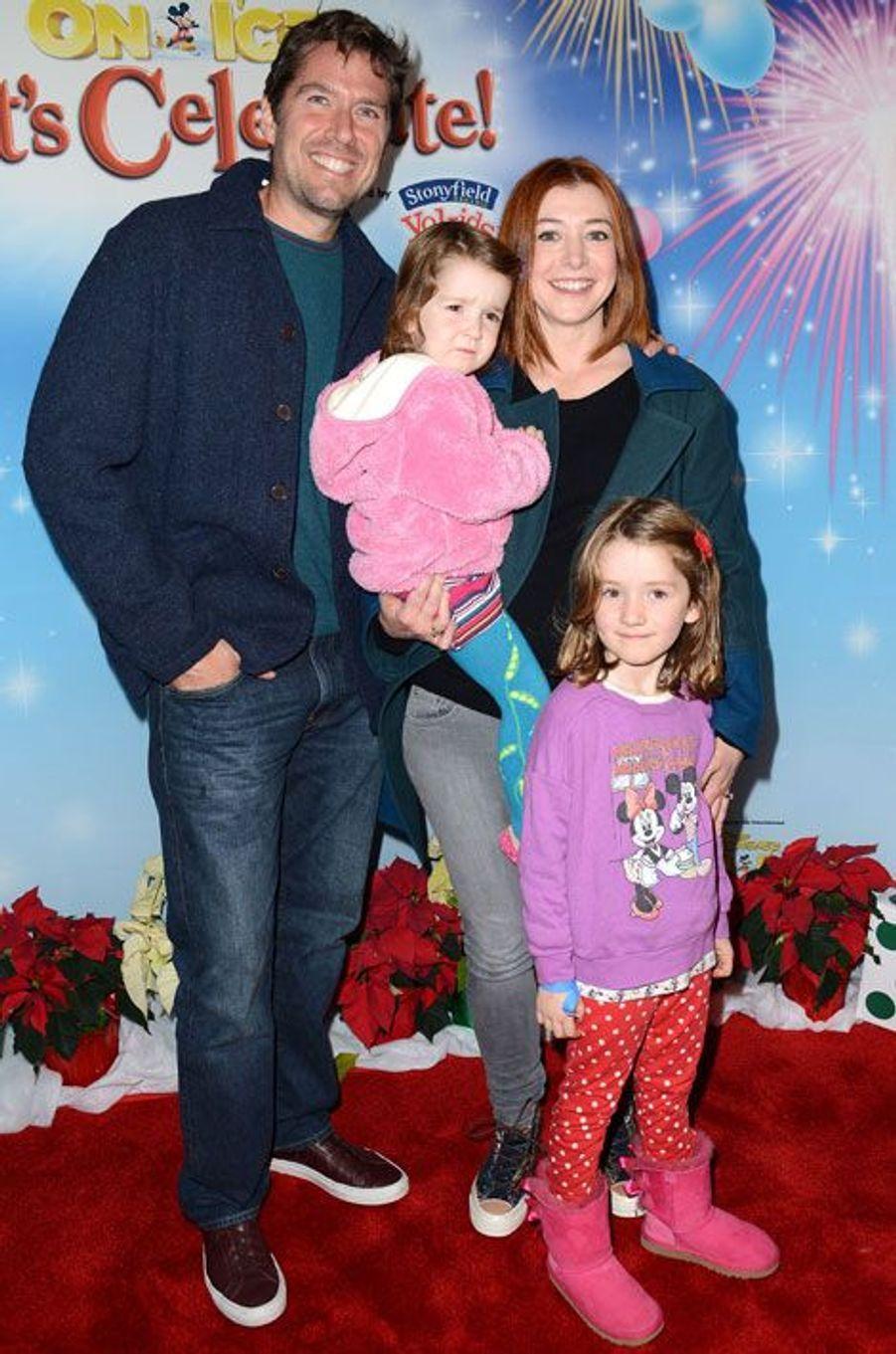 Alyson Hannigan et Alexis Denisof et leurs filles