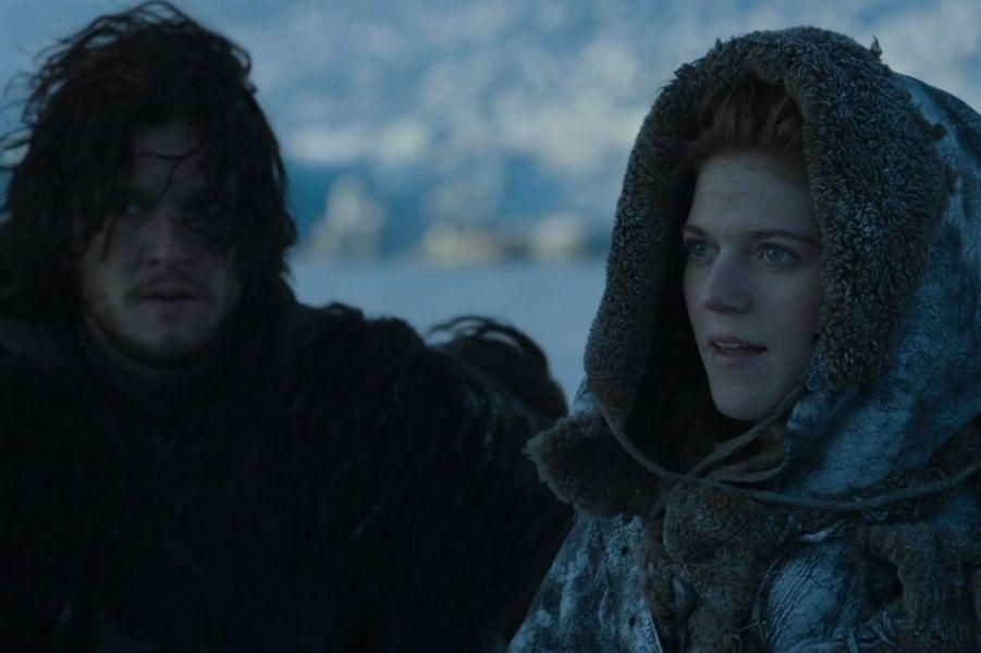 """Kit Harington et Rose Leslie dans """"Game of Thrones"""""""