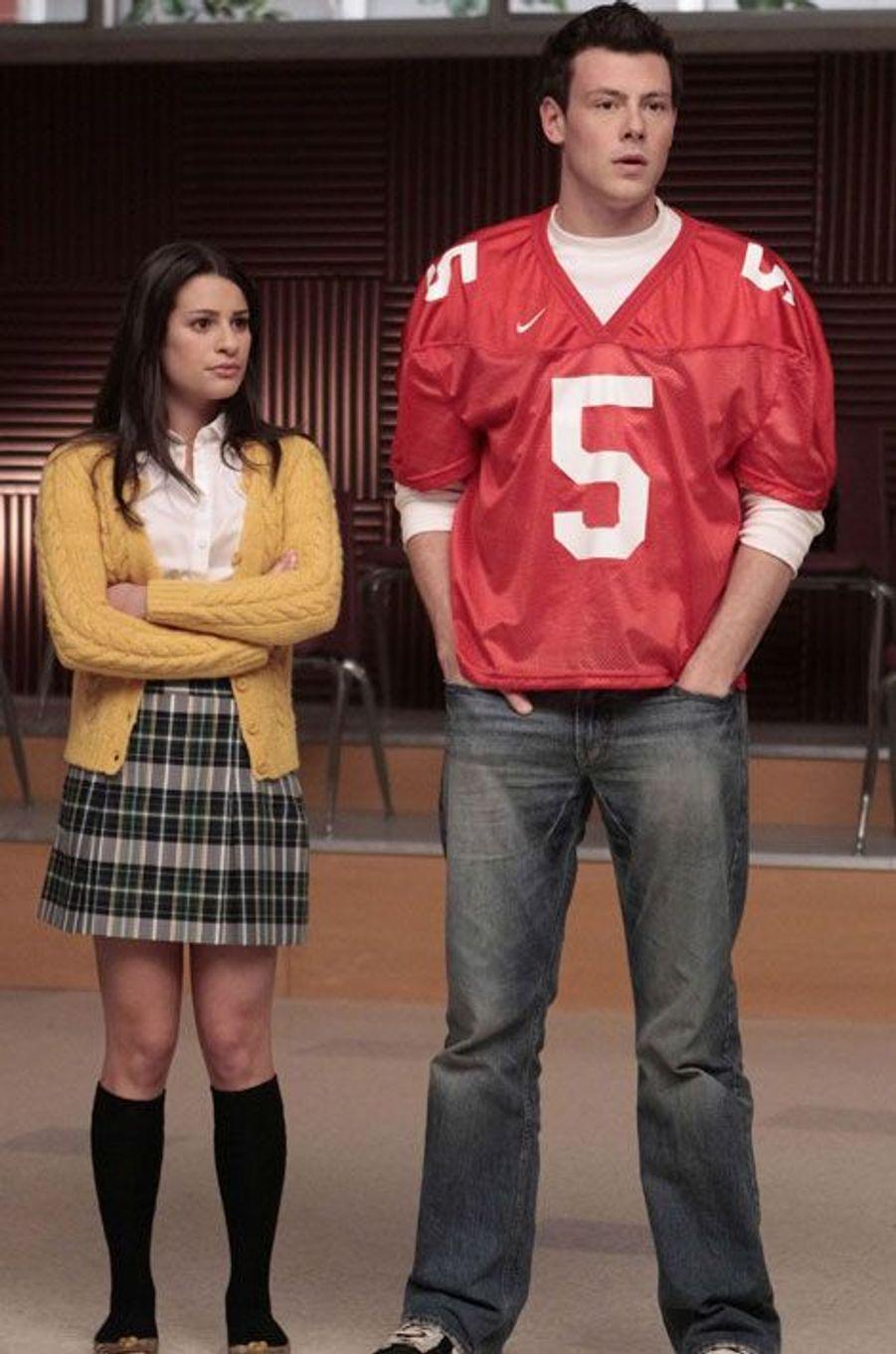 "Lea Michele et Cory Monteith de ""Glee"""