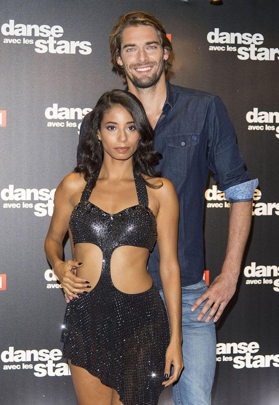 Camille Lacourt et sa danseuse Hajiba Fahmy