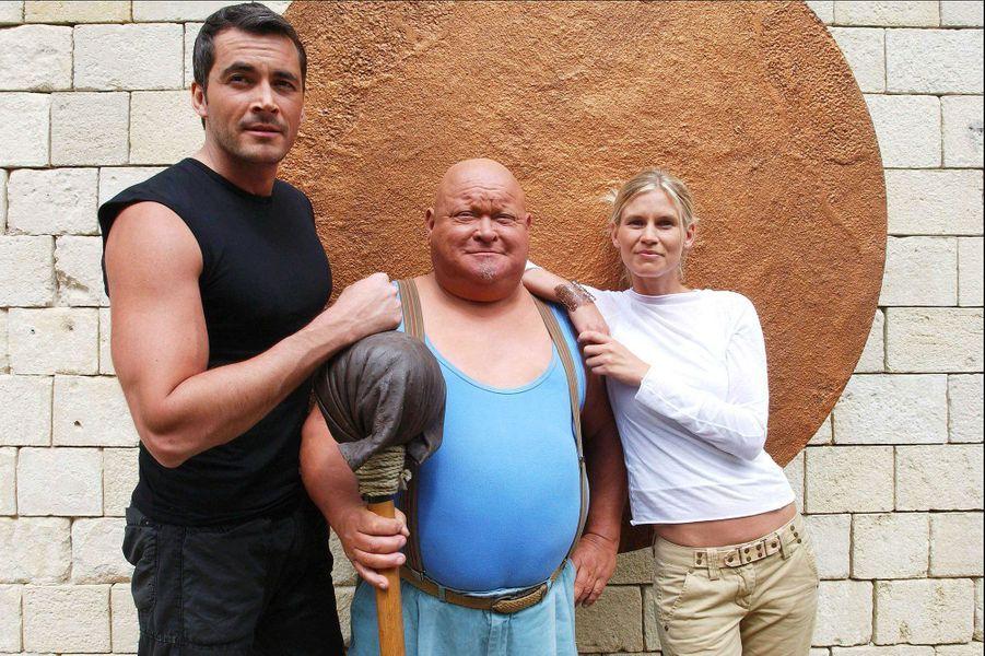 """En 2004 dans """"Fort Boyard"""" avec La Boule et Sarah Lelouch"""