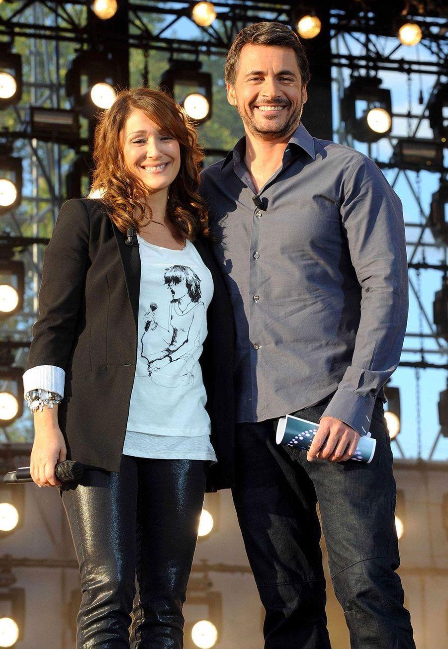 AvecDaniela Lumbroso lors de l'enregistrement du concert de le Fête de la musique sur France 2 en 2009