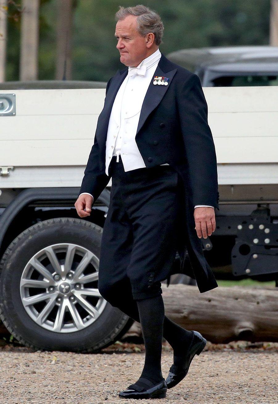 """Hugh Bonneville (Lord Crawley) sur le tournage du film """"Downton Abbey"""""""