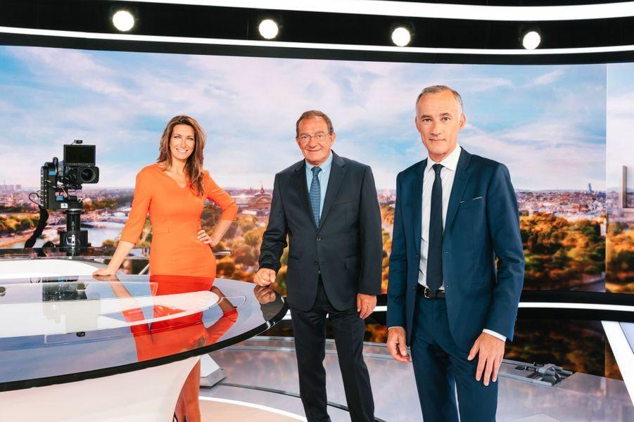 Anne-Claire Coudray,Jean-Pierre Pernaut et Gilles Bouleau.