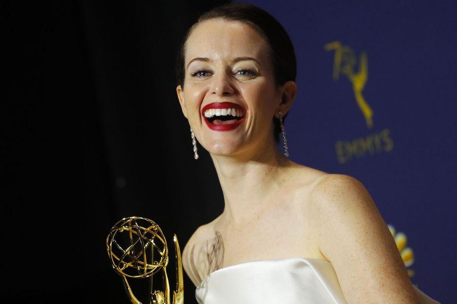"""Claire Foy,Meilleure actrice dans une série dramatiquedans """"The Crown"""" (Netflix)"""