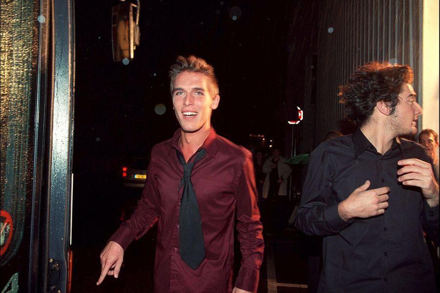 Stéphane et Patricelors du lancement de la première saison de la «Star Academy», sur TF1, le 20 octobre 2001