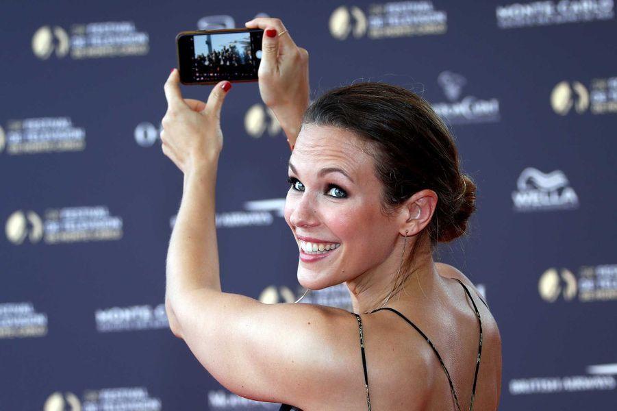 Lorie lors de la soirée d'ouverture du festival de la télévision de Monte-Carlo