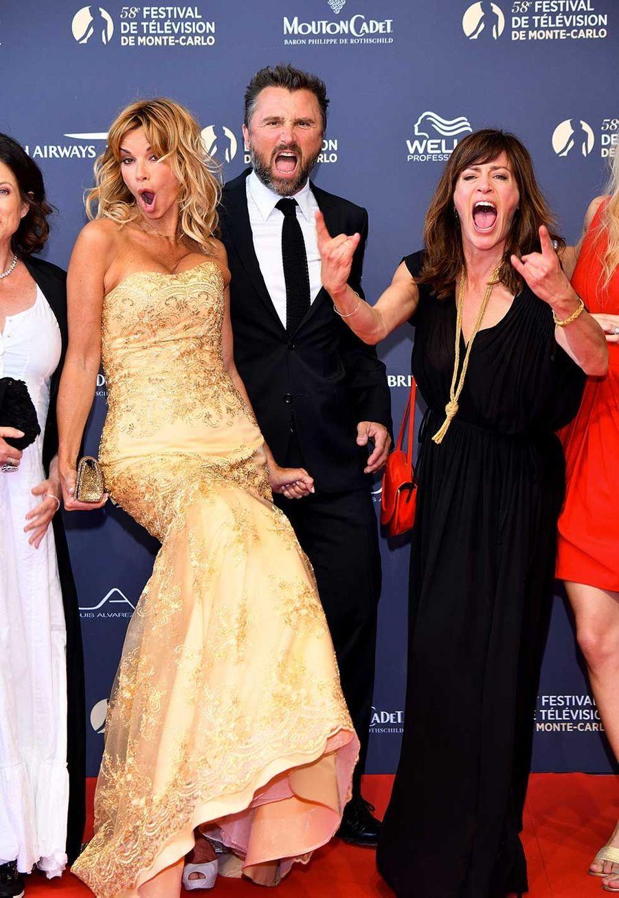 """Le casting de """"Demain nous appartient"""" lors de la soirée d'ouverture du festival de la télévision de Monte-Carlo"""