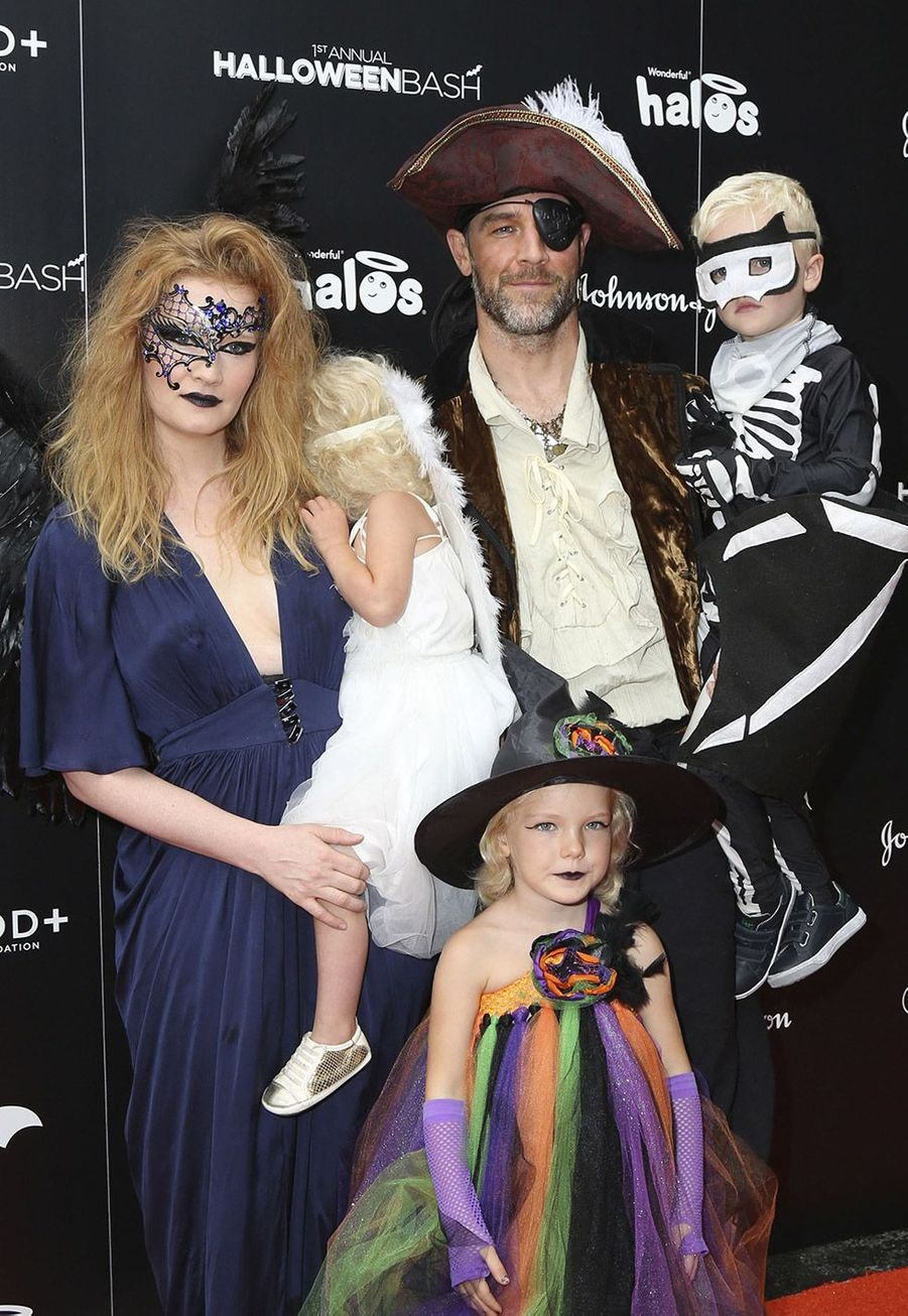 James Van Der Beek et sa famille en 2016