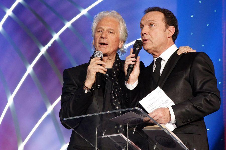 Avec Gérard Lenormand aux Globes de Cristal en 2012