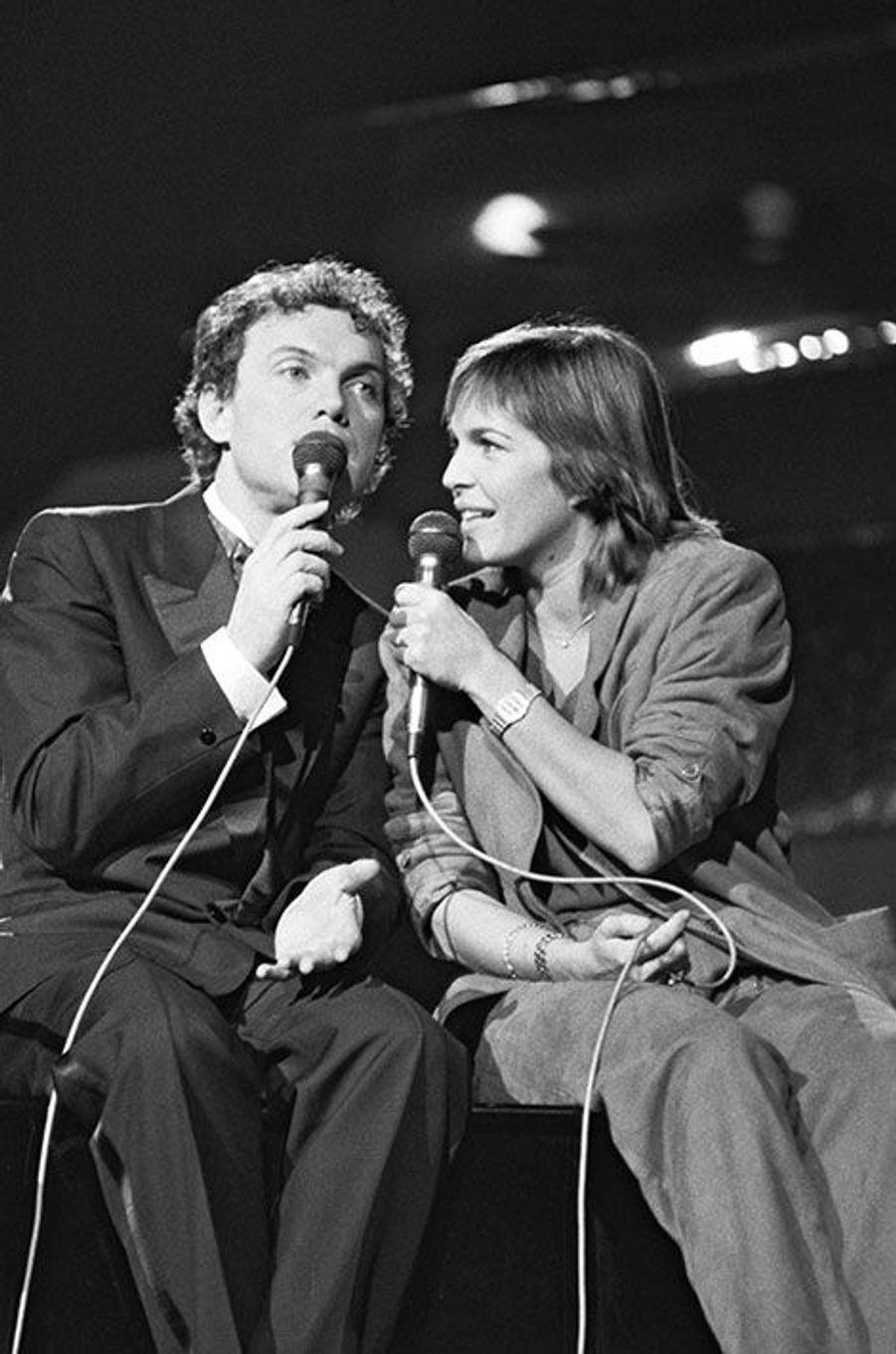 Avec Véronique Jannot en 1983