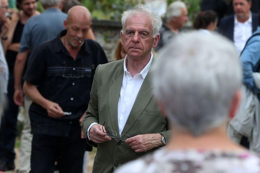 Jacky aux obsèques de Corbier, le 5 juillet