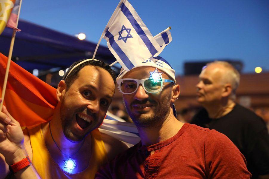 Des fans réunis à Tel-Aviv pour l'Eurovision