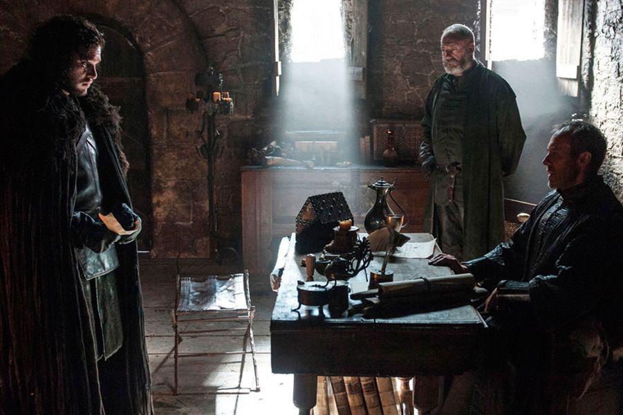 Jon Snow, Stannis Baratheon et Davos Mervault